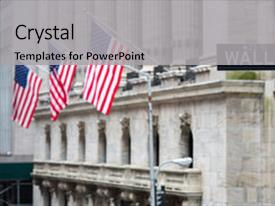 Slides enhanced with nasdaq - wall street sign in new background and a light gray colored foreground.