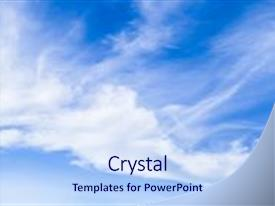 Beautiful presentation theme featuring sky - natural background of the blue backdrop and a sky blue colored foreground.