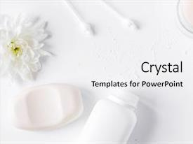 Amazing slides having natural organic cosmetics for baby backdrop and a white colored foreground.