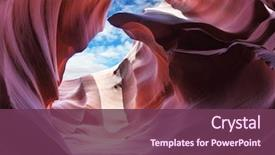 PPT theme enhanced with nature - exit slot canyon the magic background and a violet colored foreground