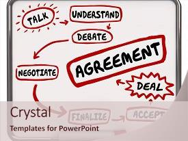 Theme featuring negotiation - negotiate settlement deal agreement diagram background and a lemonade colored foreground.