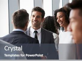 Theme having network - group of businesspeople having informal background and a dark gray colored foreground