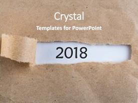 slides consisting of new year 2018 is coming concept happy new year 2018 message appearing behind