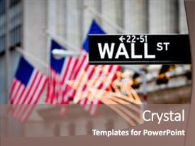 Beautiful PPT theme featuring new york stock exchange backdrop and a gray colored foreground.