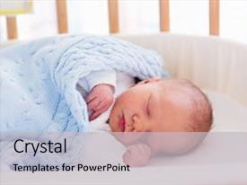 PPT theme enhanced with newborn baby in hospital room background and a light gray colored foreground.