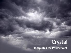 Cool new PPT layouts with night sky - big powerful storm clouds backdrop and a gray colored foreground.