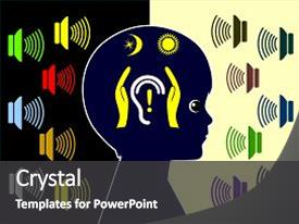 Beautiful slide deck featuring noise induced hearing loss backdrop and a  colored foreground.