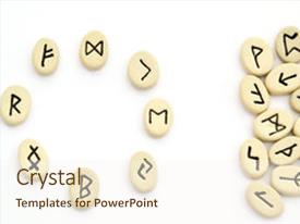 Cool new theme with nordic runes - circle shape on white background backdrop and a cream colored foreground
