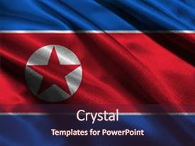 Top north korea powerpoint templates backgrounds slides and ppt ppt layouts having ripple north korea flag 3d north background and a wine colored foreground toneelgroepblik Image collections