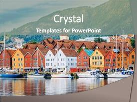 Theme enhanced with norway view of historical buildings background and a gray colored foreground.