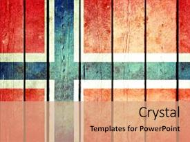 Cool new PPT layouts with norway wooden grunge flag norway backdrop and a coral colored foreground.