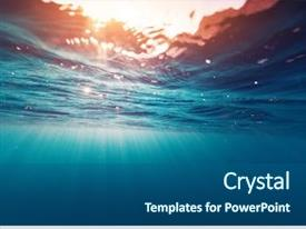 Beautiful slides featuring ocean - underwater view of the sea backdrop and a ocean colored foreground
