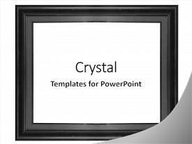 Cool new slides with old antique black frame isolated backdrop and a white colored foreground.