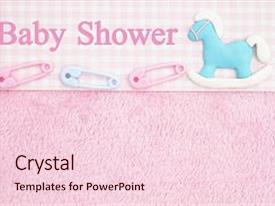 Presentation design consisting of old fashion pink shower baby background and a lemonade colored foreground.