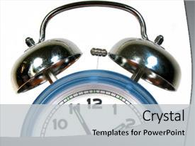 Presentation consisting of old fashioned alarm clock background and a light gray colored foreground.