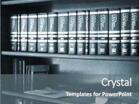 Beautiful slide deck featuring old legal books law reports backdrop and a gray colored foreground.