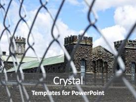 Powerpoint template male cuffed hands over dirty white table lit cool new presentation theme with old mt eden prison in auckland new zealand the historic prison custom template toneelgroepblik Choice Image