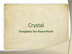 Amazing PPT theme having old paper isolated on white backdrop and a soft green colored foreground.