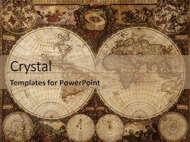 top map vintage powerpoint templates backgrounds slides and ppt