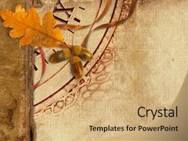 Cool new PPT theme with old vintage album with autumn backdrop and a  colored foreground.