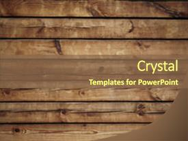 Slide Deck Having Old Wood Texture Background And A Tawny Brown Colored Foreground