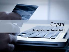 Online banking powerpoint templates crystalgraphics slide set featuring online payment background and a light blue colored foreground toneelgroepblik Gallery
