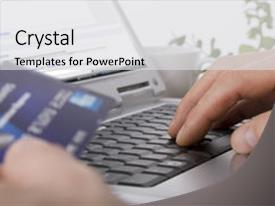 Amazing presentation having online shopping using a credit backdrop and a light gray colored foreground.