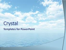 Cool new theme with open water - beautiful summer seascape with white backdrop and a sky blue colored foreground.