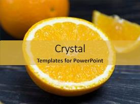 Slide deck with orange orange fruit orange fruit background and a yellow colored foreground.