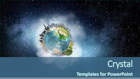 Cool new slide deck with our earth planet mixed media backdrop and a ocean colored foreground