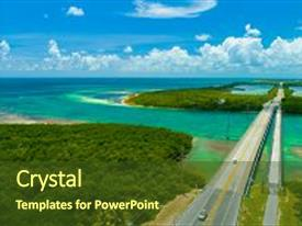 Presentation theme enhanced with overseas highway to key west background and a tawny brown colored foreground.