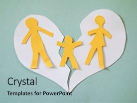 Top Children Of Broken Family PowerPoint Templates