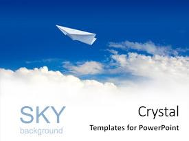 Beautiful theme featuring paper planes in blue sky backdrop and a white colored foreground.