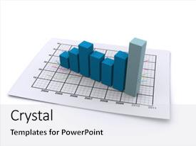 Colorful PPT theme enhanced with paper sheet containing statistical data backdrop and a light gray colored foreground.