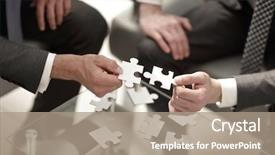 Presentation consisting of partner to complete the puzzle background and a coral colored foreground