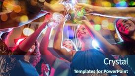 Presentation design enhanced with party holidays celebration nightlife background and a ocean colored foreground