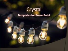 Cool new PPT layouts with party string lights hanging backdrop and a wine colored foreground.