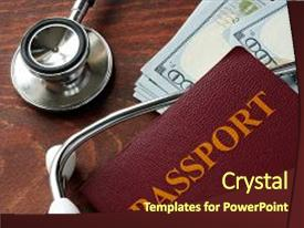 2000 medical tourism powerpoint templates w medical tourism themed ppt theme having passport and dollar bills medical background and a tawny brown colored foreground toneelgroepblik Choice Image