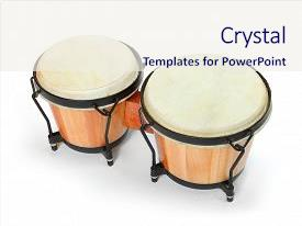 PPT layouts enhanced with percussion traditional african drum music background and a  colored foreground.