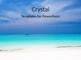 Beautiful theme featuring crystal turquoise sea on maldives backdrop and a light blue colored foreground.