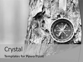 Amazing presentation theme having photo of an old compass backdrop and a light gray colored foreground.