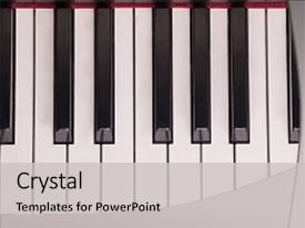 Beautiful slides featuring instrument - piano keys close-up music backdrop and a light gray colored foreground