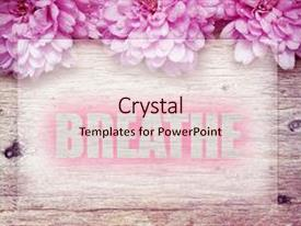 Top Glitter Flowers PowerPoint Templates, Backgrounds