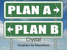 Slides with plan a plan b backup plan or alternative option 3d illustration background and a light gray colored foreground.