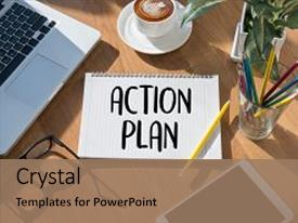 PPT theme enhanced with plan process strategy vision business background and a coral colored foreground.