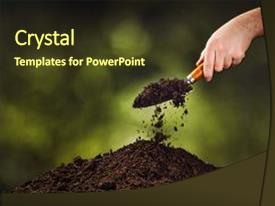5000 soil powerpoint templates w soil themed backgrounds slide set having plants hand pouring black background and a tawny brown toneelgroepblik Image collections