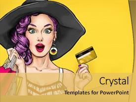 Comic powerpoint templates ppt themes with comic backgrounds beautiful slide deck featuring pop art girl with shopping backdrop and a toneelgroepblik Gallery