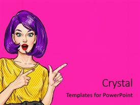Hollywood powerpoint templates ppt themes with hollywood backgrounds slide deck consisting of women rights pop art surprised woman pointing background and a coral toneelgroepblik Gallery