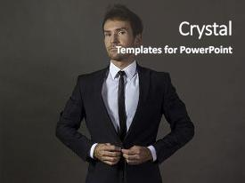 5000 attire powerpoint templates w attire themed backgrounds theme with handsome gentleman in business attire background and a dark gray colored foreground maxwellsz