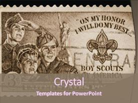 2000 boy scouts powerpoint templates w boy scouts themed backgrounds amazing presentation having postage stamp showing boy scout backdrop and a violet colored foreground maxwellsz